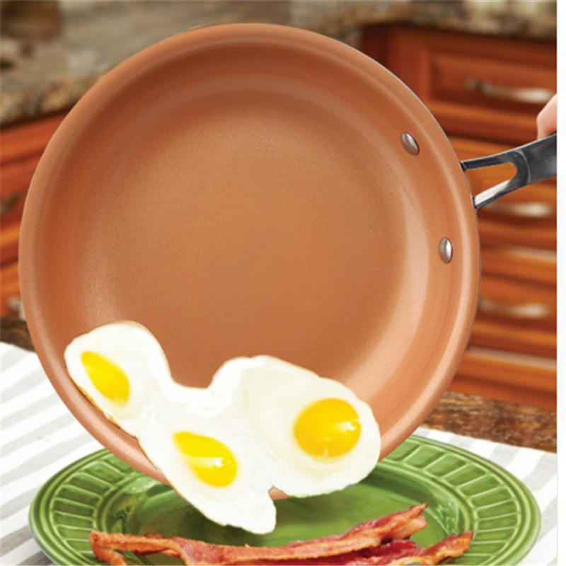 2018 New Non-stick Copper Frying Pan with Ceramic Coating and Induction 10 inches