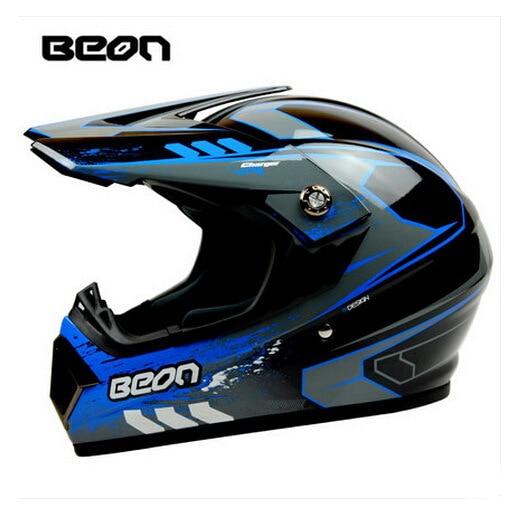 Netherland BEON мотоциклетный шлем для мотокросса высшего качества рыцарь внедорожный мотоциклетный защитный шлем из АБС B-600 Размер M L XL - Цвет: Bright black blue