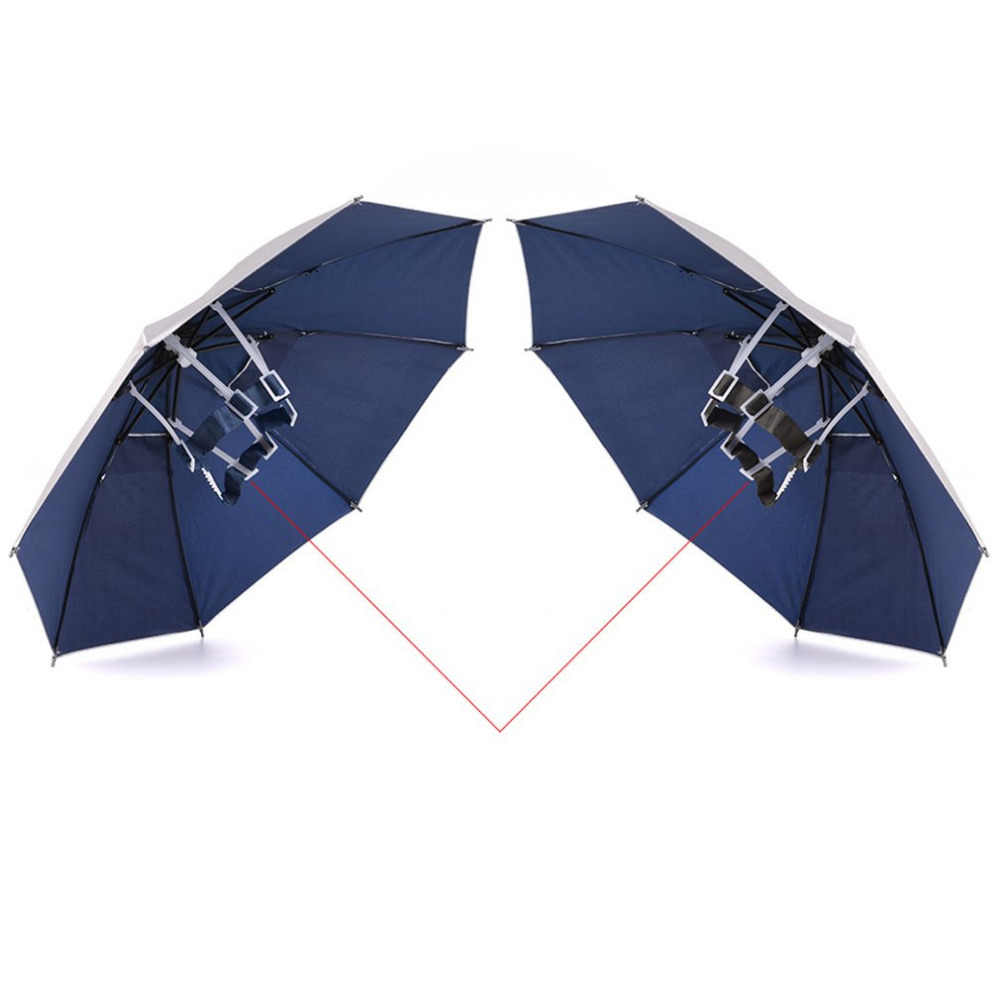 acce701465f24 ... Foldable Head Umbrella Hat Anti-Rain Outdoor Fishing Caps Portable  Travel Hiking Beach Fishing Umbrellas ...