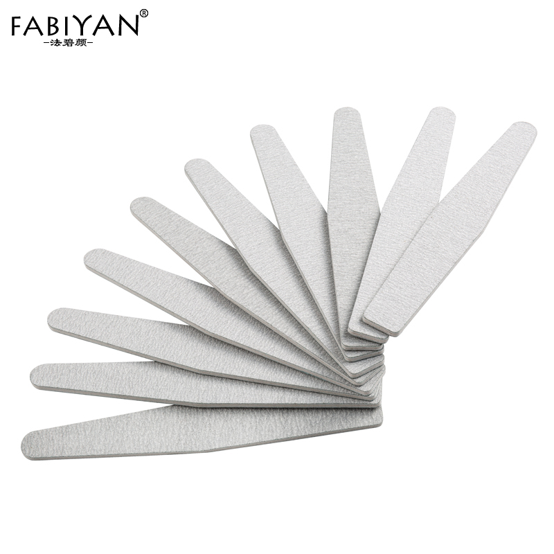 Lot 10PCS Grey Curve File Buffing Buffer Sandpaper Emery Board Salon Care DIY Nail Art Manicure Tools 100/180 Pro
