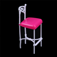 1:12 Scale Plastic Bar Chair Dollhouse Miniature Furniture For Doll House Decor Classic Toy for Kids 1PC(China)