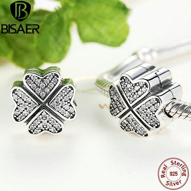 2016 Primavera Estilo 925 Sterling Silver Pétalas de Amor Prata Clipe charme Com Limpar Cubic Zirconia Fit Pandora Charm Bracelets DIY