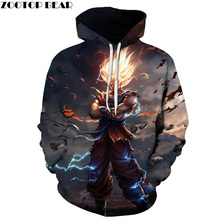 Dragon Ball Hoodies 3D Sweatshirts Men Women Tracksuits 2018 Fashion Casual Pullover Anime Hoodies Hooded Jackets Drop Shopping
