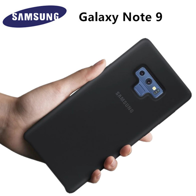 best sneakers 6b3fa 9297f US $140.0 |DHL Free Shipping Original Silicone Back Cover Case for Samsung  Galaxy Note 9 EF PN960 Anti Wear Protection 6 colors-in Half-wrapped Case  ...