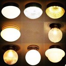 Стеклянный Американский Ретро светодиодный потолочный светильник для гостиной Лофт промышленный винтажный потолочный светильник