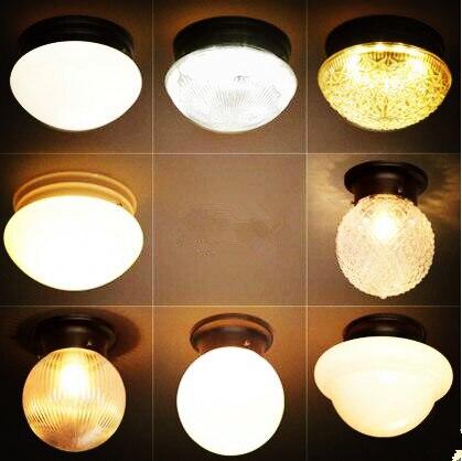 Стекло American Retro Светодиодная лампа потолка для Гостиная Лофт Промышленные Винтаж потолочные светильники plafonnier светильник