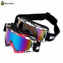 WOLFBIKE UV400 Protection Ski Goggles Outdoor Sports bike Snowboarding Skate Goggles Men Women Snow Skiing Sun Glasses Eyewear