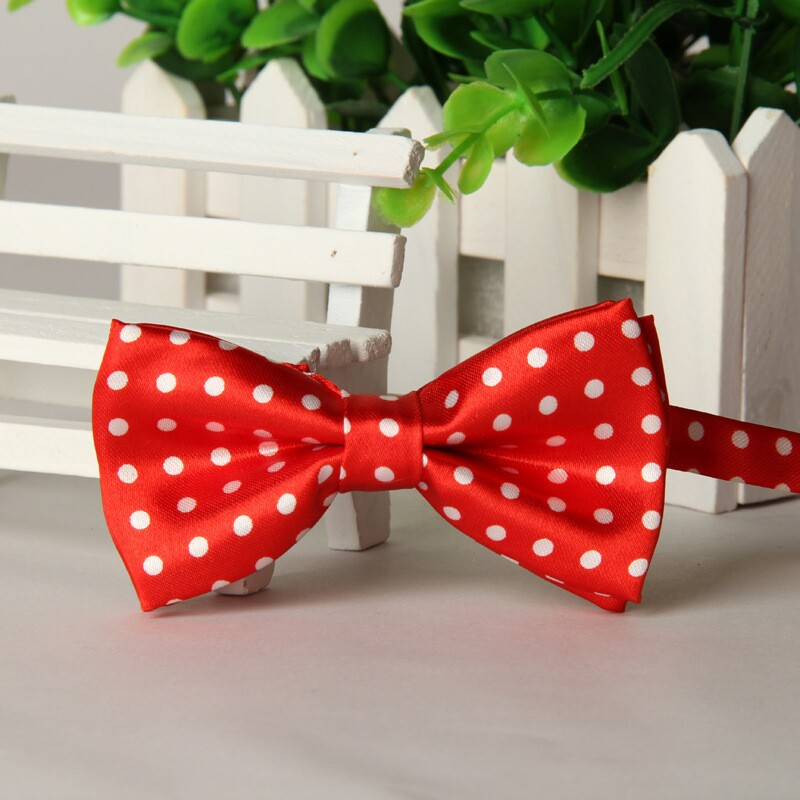 2016 Red Kids Bow Tie White Dot Bowknots Children Bowties  Lots