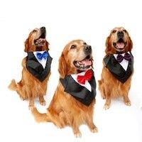 Nowy przyjazd bardzo duży pies pet chustka szalik z muszka strona pet dress-up ubrania