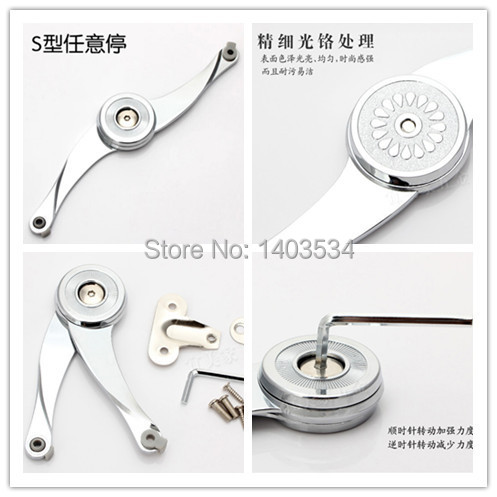High Quality Arbitrary stop cabinet door support Soft Close Lift Up Stay Support Hinge Damper viborg top quality soft close random stop kitchen cabinet cupboard door lift up gas strut lid stay support flap stay strut