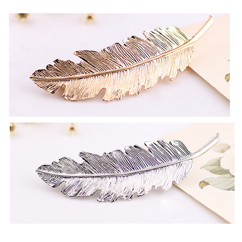 Leaf Metal Hair Clip Girls Fashion Gold/Silver Hairpin Princess Women Hair Accessories Barrettes Hairpins Hair Jewelry Hairclips 1pc fashion lovely women girl metal leaf hair clip crystal hairpin barrette headwear christmas party hair accessory 2016 hot