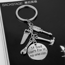 If Dad Can't Fix It No One Can Hand Tools Keychain Keyring Fathers Day Gift