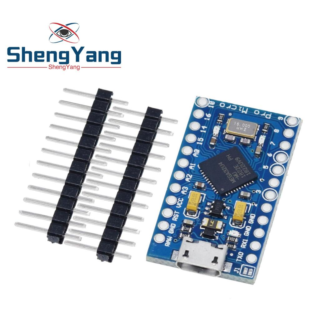 Pro Micro ATmega32U4 5V 16MHz Replace ATmega328 For Arduino Pro Mini With 2 Row Pin Header For Leonardo Mini Usb Interface(China)