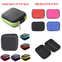 Earphones Wire Organizer Box For Data Line USB Cable Hard Shell Storage Bag Portable EVA Headset Accessories Coin Case Container(China)