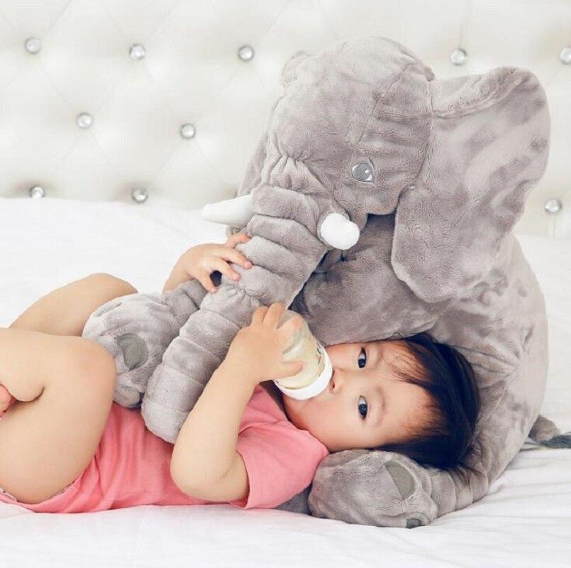 60cm Height Large Plush Elephant Doll Toy Kids Sleeping Back Cushion Cute Stuffed Elephant Baby Accompany Doll Xmas Gift 9 5cm sheep sean standing doll baby sleeping comforting plush stuffed bed room sofa decoration toy xams gift dash pillow cushion