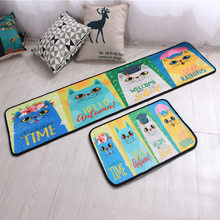 Lovely Cartoon Animal Pattern Doormats Indoor Home Welcome Carpets Anti-slip Floor Carpets For Kitchen Child's Bedroom Rugs(China)