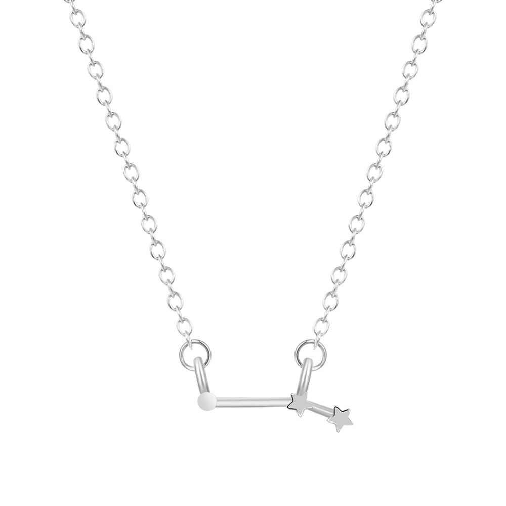 QIAMNI 12 Star Gemini Leo Pisces Знаки зодиака Созвездие комбинезон Астрология ожерелье с изображением галактики подарок на день рождения для женщин и мужчин
