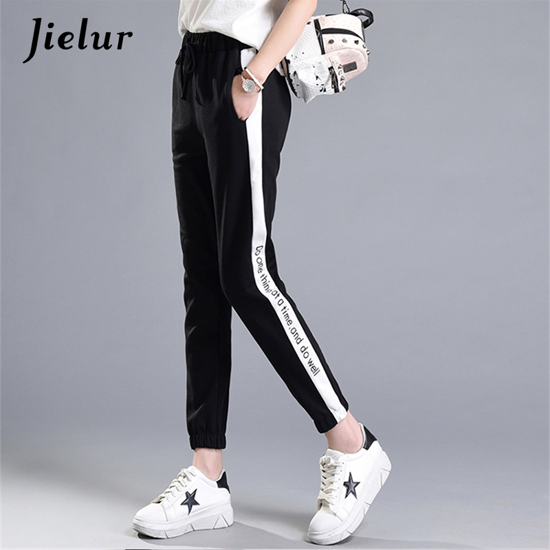 spring summer new letters printed leisure sweatpants women. Black Bedroom Furniture Sets. Home Design Ideas