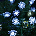 4.8M 15.7FT 20LEDs Lotus Flower Solar Lamp Garden Waterproof Decoration Fairy Holiday Christmas Solar LED Light