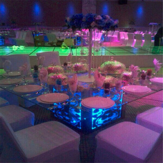 120mm Rgbw Multicolors Rechargeable Led Furniture Light Under Table Lighting With Remote Controller For Decoration