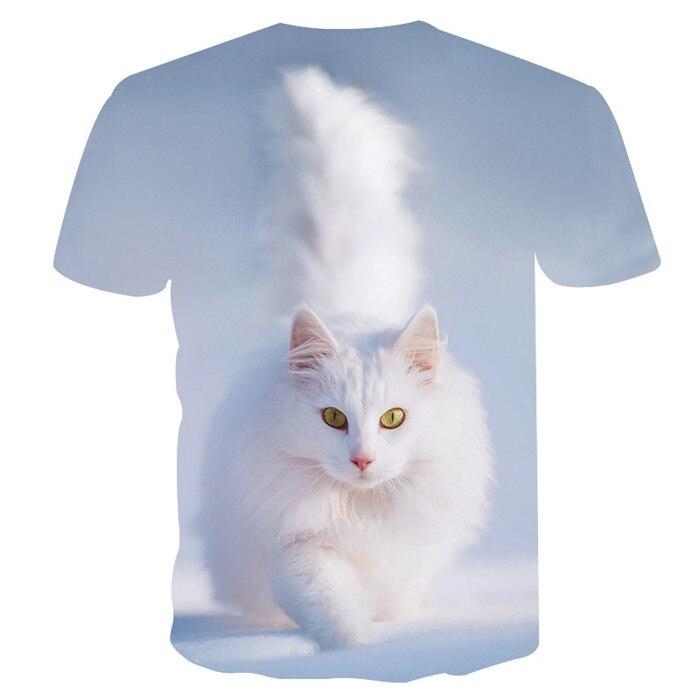 Новинка, футболка для мужчин/женщин, 3d принт, мяу, черный, белый, кот, хип-хоп, Мультяшные футболки, летние топы, футболки, модные 3d футболки, M-5XL