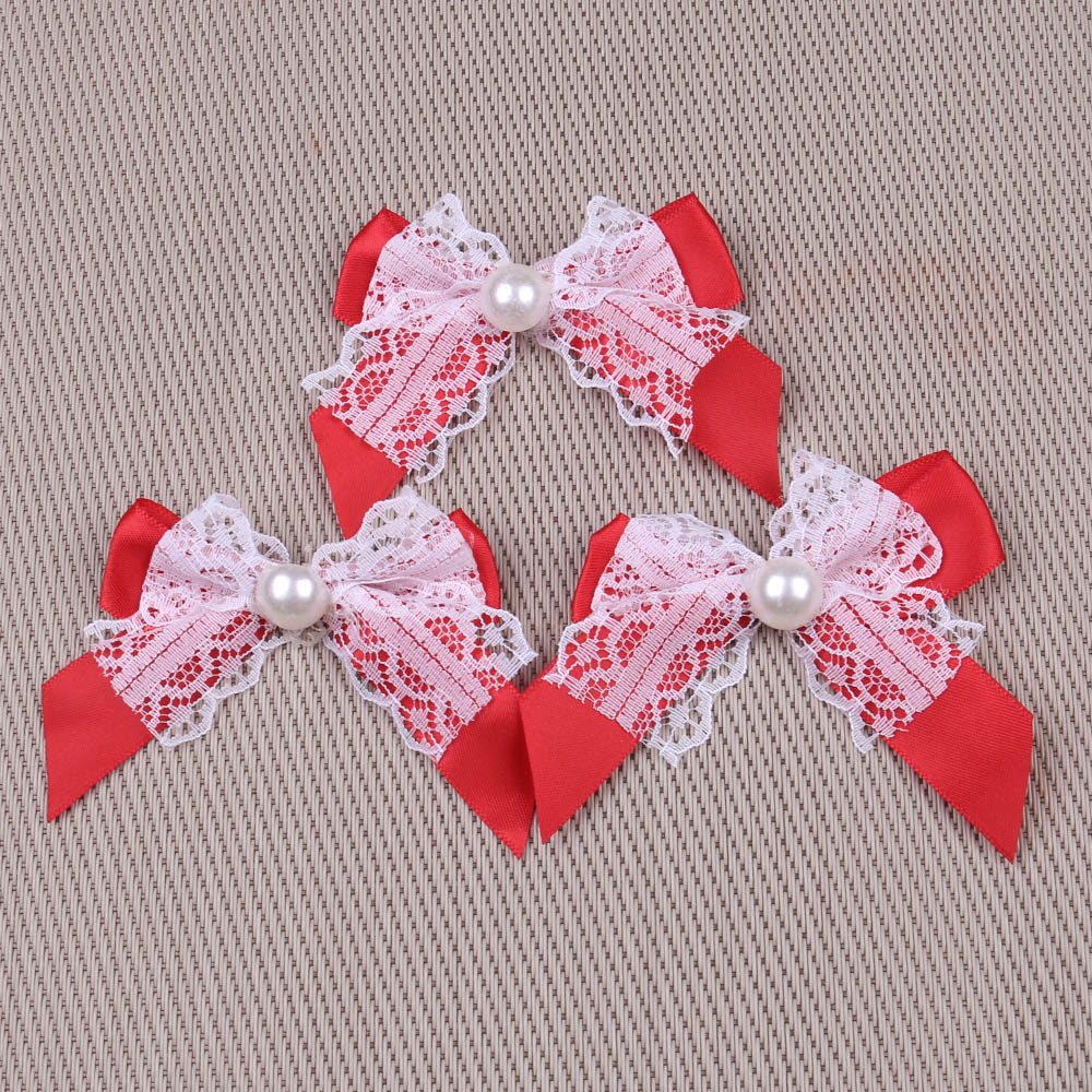 NBHB 20PCS Bow Tie For Sewing Satin Ribbon Wedding Party Decoration ...