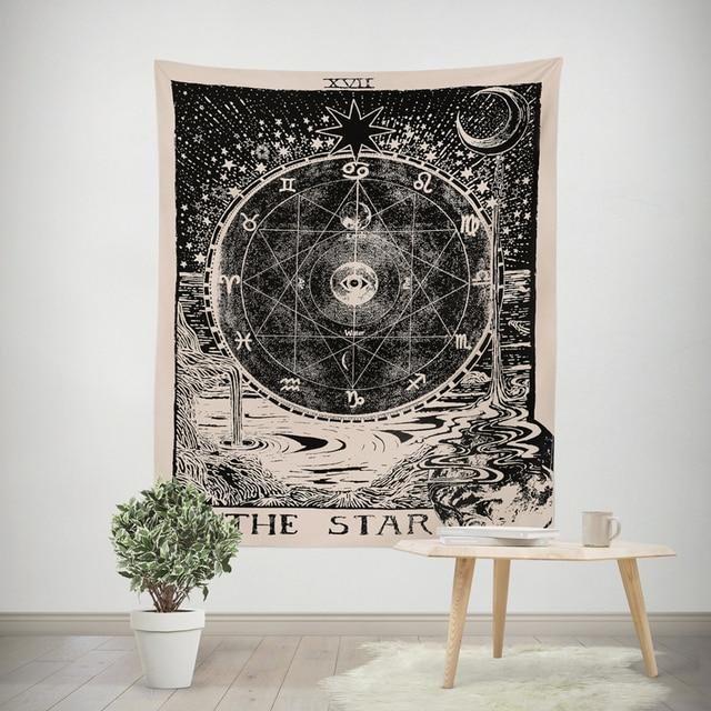Europe Style Tapestry Divination Stars Sun Moon Tapisserie Murale