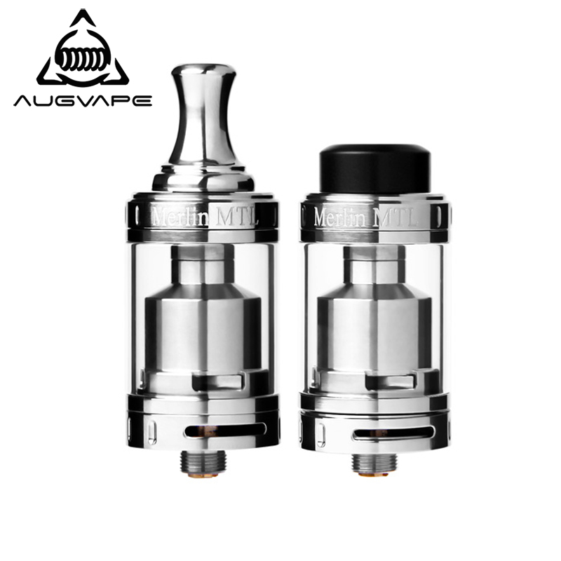 Augvape Merlin MTL 22MM RTA Atomizer Tank 3ML Single Coil Top Filling Vape Electronic Cigarette Atomizer Russian Federation Ship цены