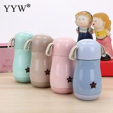 300ml Cute Thermos Cup Mug Portable Water Bottles Vacuum Stainless Steel Insulated Mugs Thermal Bottle Thermoses Vacuum Flask 300ml baby feeding thermos cup cute dog vacuum milk cup with bells girl stainless steel insulated cup leak poof hot water bottle