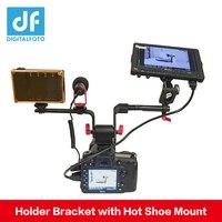 DIGITALFOTO DSLR Monitor/EVF/Microphone/LED Camera Lighting Holder Bracket with Hot Shoe Mount
