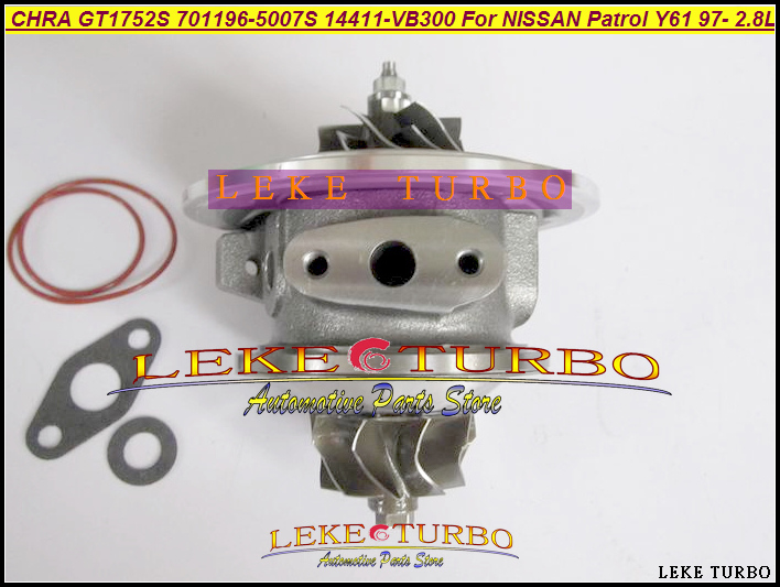 Turbo Cartridge CHRA Core GT17 701196-0007 701196 701196-0001 701196-0002 701196-0006 For NISSAN Patrol Y61 RD28TI RD28ETI 2.8L turbo cartridge chra core gt1752s 733952 733952 5001s 733952 0001 28200 4a101 28201 4a101 for kia sorento d4cb 2 5l crdi