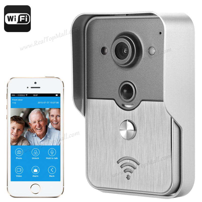 Wireless Intercom Door Phone Video Recording Night Vision Home Security Camera  POE, PIR Motion Detection d114b smart home 1v2 wireless intercom one to two video door phone 2 4g digital pir detection video door peephole camera