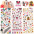 Hot Sale HOT310-312 NEW 3 IN 1 Mouse Cartoon Wonderland Water Transfer Decal Stickers Nail Art Manicure Tip  3 Sheet In One Page