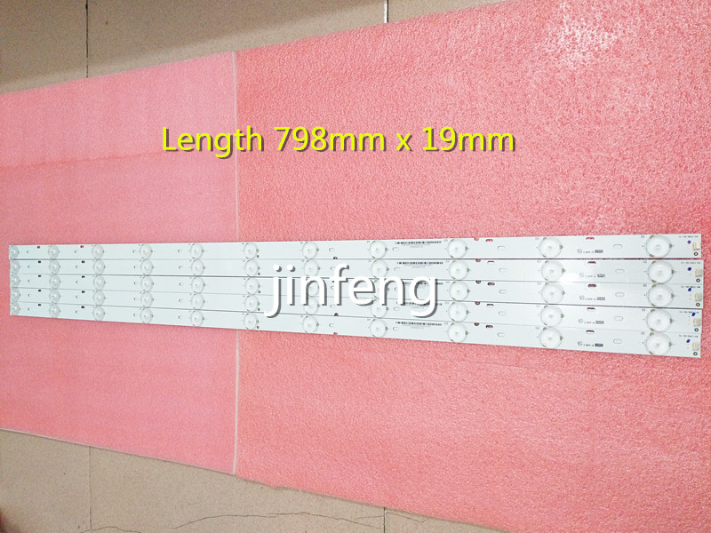 11 lamp 80 cm 39 inch 40 inch LED light bar LCD TV backlight straight down type light bar universal TV lamp bar.