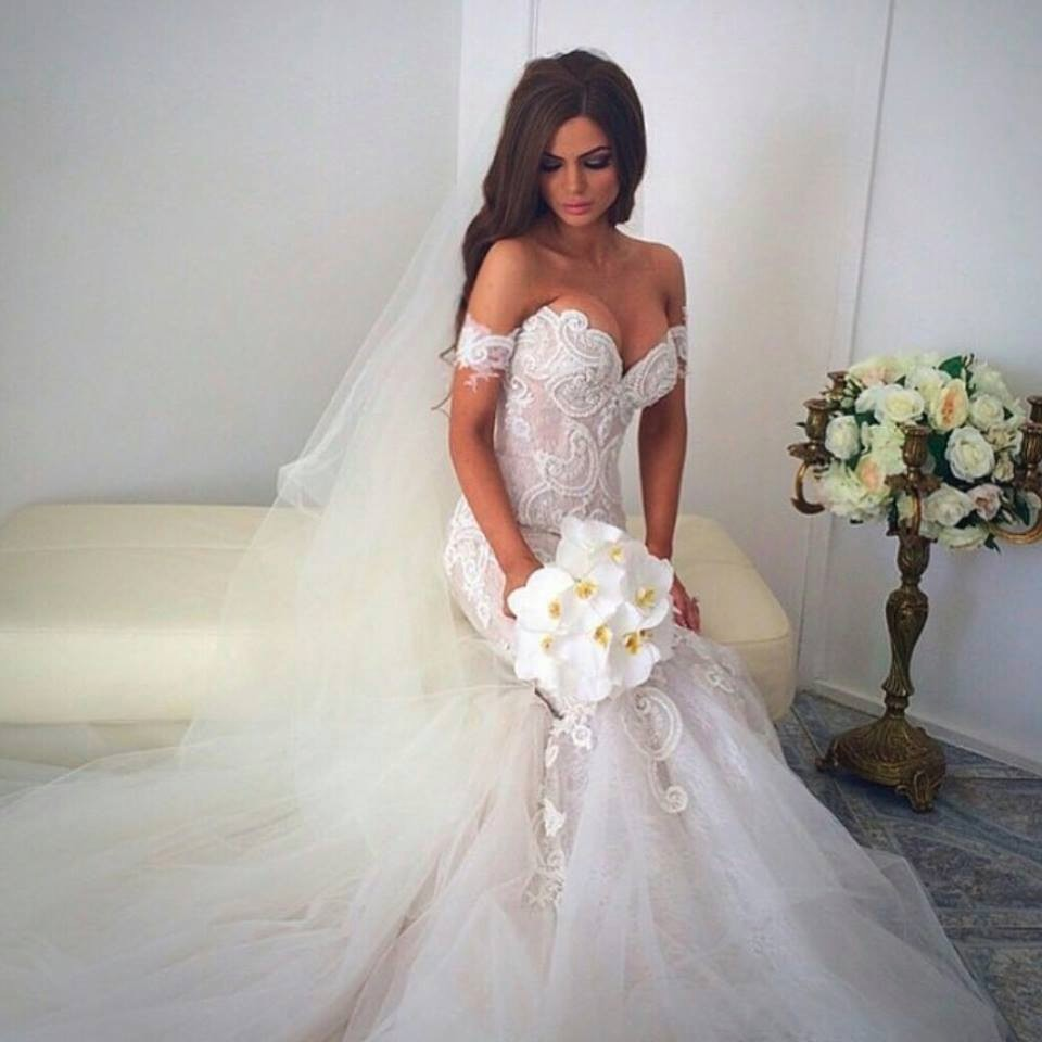 Aliexpress Com Buy Elegant White Mermaid Dress For Wedding 2017 Lace Off The Shoulder Wedding Gowns Robe De Mariee Sirene From Reliable Gown Red Suppliers