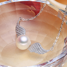 Sterling silver real pearl necklace