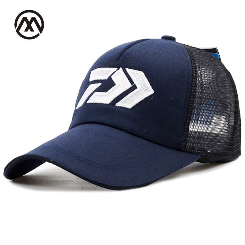DAIWA New Summer Sun Cap Breathable Wicking Mesh Visor Ventilation Adjustable Sun Hat Daiwa Male 2018 Outdoor fishing brand cap(China)