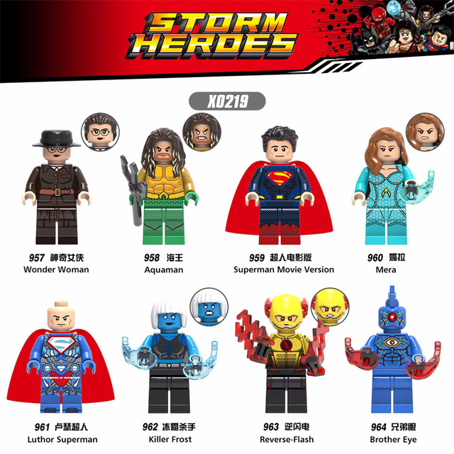 1 PC Blocos de Super-heróis da Marvel Irmão Olho Assassino Aquaman Reverter Montagem Modelo Toy Action Figure para Crianças Presente Engraçado