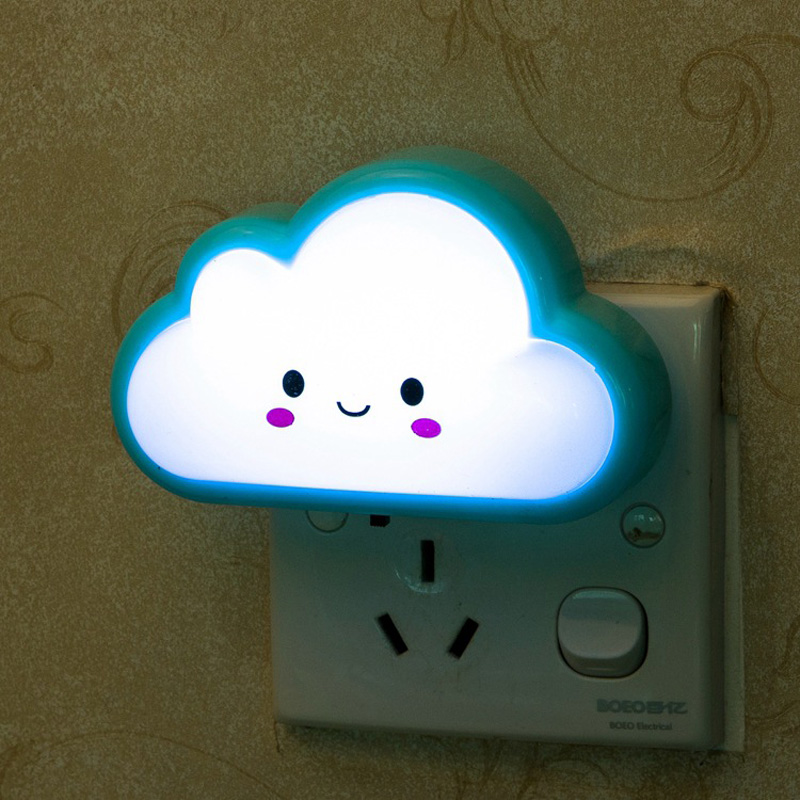 Led Night Lamp Bright White Milk Bottle Cloud US Plug Led Nightlight Baby Pillow Gift New Year Home Decoration Lights