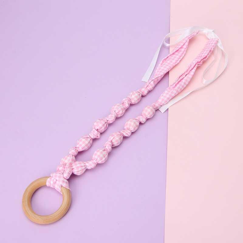 Collar de dentición para bebé collar de lactancia de 8 estilos para mamá con anillo de madera DIY tela de bebé collar de lactancia masticar juguete