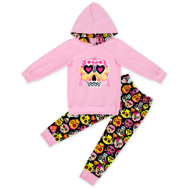 kids Fall clothes kids long sleeve outfits baby girls hoodie clothing girls skull outfits heart clothing children boutique sets fall halloween clothes cutest pumpkin short sleeve orange black sequins suit children boutique long pants with matching bow set