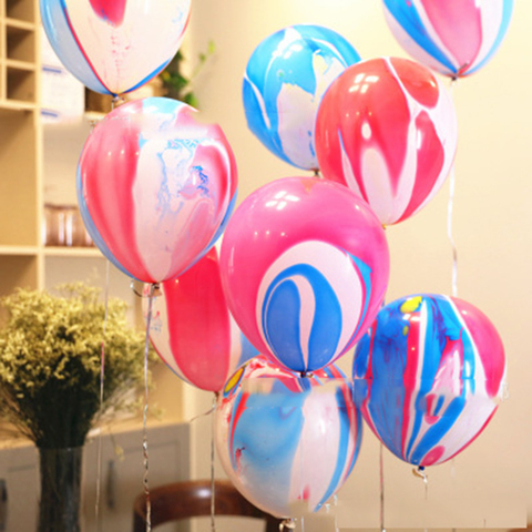 Thicken Agate Marble Balloon Multicolor Bachelorette Party Balloons Birthday Baloon Baby Shower Decoration Kids Party Supplie Pakistan