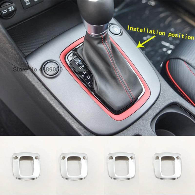 For Hyundai Kona Encino 2019 2018 ABS Matte Car Gear Shift Knob Frame Panel Decoration Cover Trim Car Styling Accessories 1pcs
