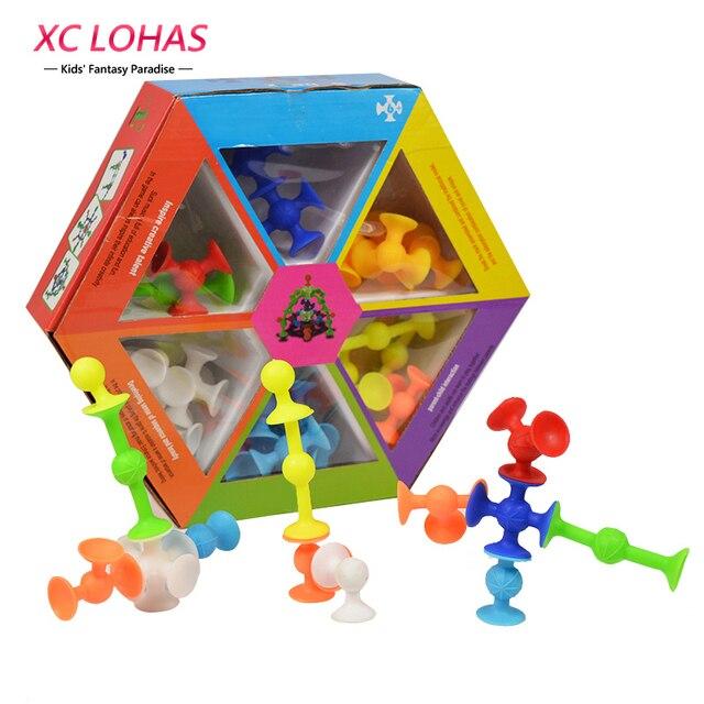 DIY Силиконовые Строительные Блоки Собраны Присоски Присоски Смешно Строительство Игрушки Детские Развивающие Игрушки Жира Мозга Игрушки