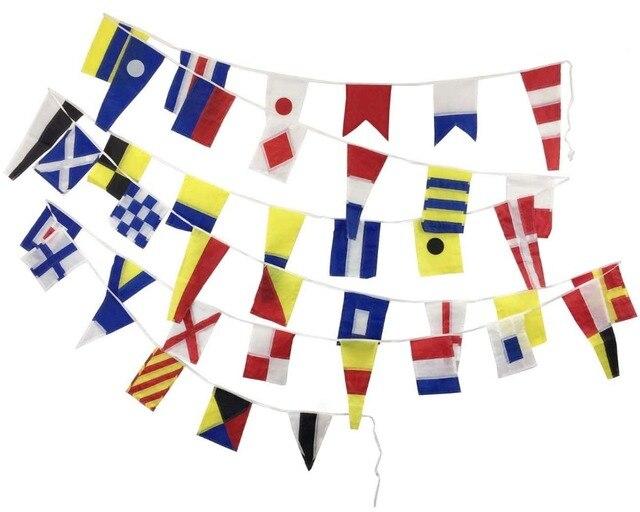 Длина 14 м 40 флаги морские суда лодка, судно морской сигнальные флаги строка