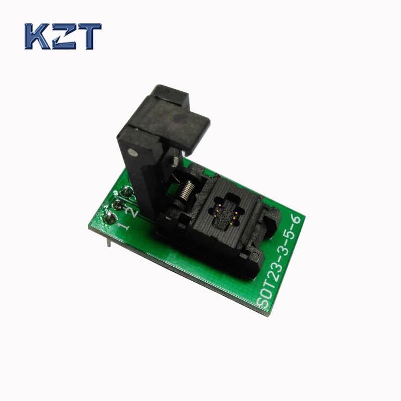 SOT23-6-0.95 Clamshell Pogo Pin Probe Test Socket SOT23-6-0.95-CP01PNL Programming Socket Pitch 0.95 Chip Size 1.6*3mm aedx sot23 6