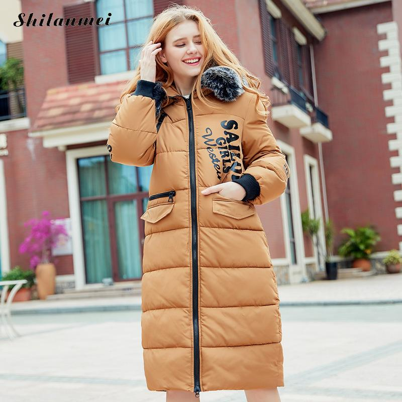 2017 Winter Warm Women Fur Coat Jacket Warm High Quality Woman Parkas Winter Overcoat Collection Outerwear Long Parkas femme XXL 2015 new hot winter thicken warm woman down jacket coat parkas outerwear rabbit fur collar luxury slim long plus size xl high