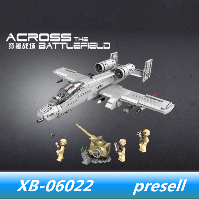 XINGBAO 06022 XINGBAO Military Series The A10 Fighter Set lepin Military Building Block Tank Model Car Toys for child Model Gift new winner tank battle military series set diy model building block classic toys holiday gift 305pcs