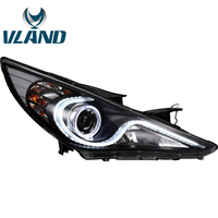 VLAND Factory For Car Head Lamp For Sonata LED Headlight With Angel Eyes 2011 2012 2013 2015 2016 Sonata LED DRL H7 Xenon Lamp
