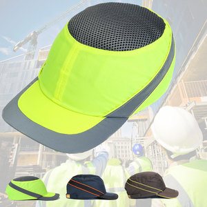 Image 2 - Moda güneş koruyucu kap iş emniyet kaskı nefes Anti darbe hafif inşaat kask kendini savunma silahları